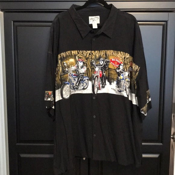 7adea08850e41 Big Dog Other - Big dogs Men s black button down shirt size 5X